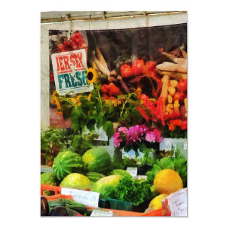 El mercado del granjero invitación 12,7 x 17,8 cm