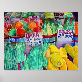 El mercado del granjero póster