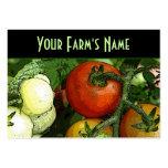El mercado del granjero plantilla de tarjeta de negocio