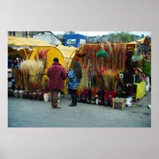 El mercado del granjero, Valpariso, Chile Póster