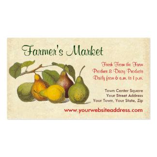 El mercado del vintage del granjero bonito de las tarjetas de visita