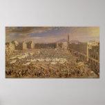 El mercado en Nápoles Póster