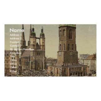 El mercado, Halle, alemán Sajonia, Alemania mA Tarjeta De Negocio