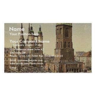 El mercado, Halle, alemán Sajonia, Alemania mA Plantilla De Tarjeta Personal