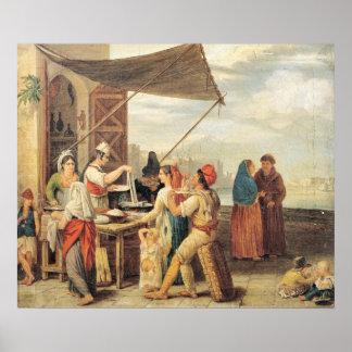 El mercado italiano póster