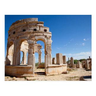 El mercado, Leptis Magna, distrito de Al Khums Postales