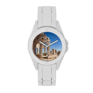 El mercado, Leptis Magna, distrito de Al Khums Relojes