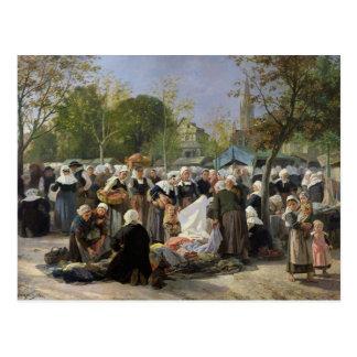 El mercado material tarjeta postal