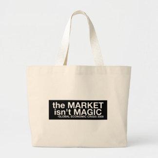 El mercado no es mágico bolsa tela grande