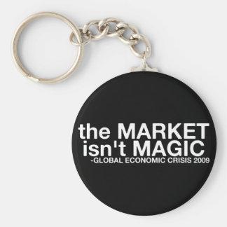 El mercado no es mágico llavero redondo tipo pin