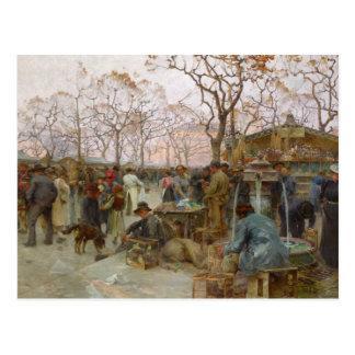 El mercado parisiense del pájaro tarjeta postal