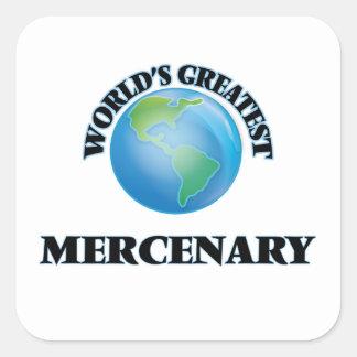 El mercenario más grande del mundo calcomanías cuadradass