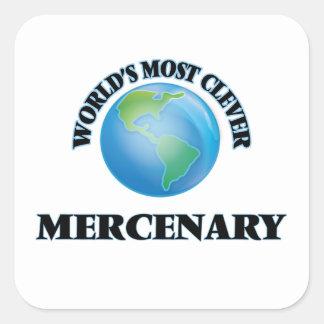 El mercenario más listo del mundo calcomanía cuadrada personalizada