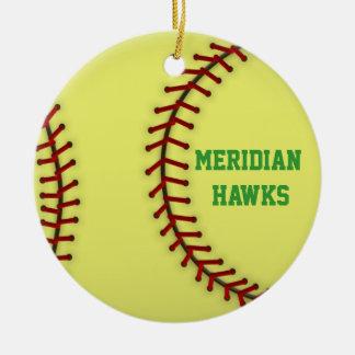 El meridiano Hawks softball Adornos De Navidad