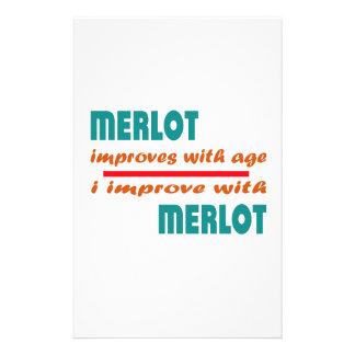 El Merlot mejora con edad Personalized Stationery
