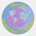 El mes de Alzheimer del mundo - septiembre Pegatina