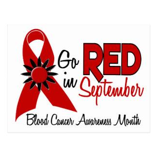 El mes de la conciencia del cáncer de sangre tarjeta postal