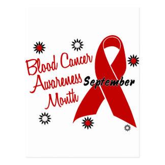 El mes de la conciencia del cáncer de sangre tarjetas postales