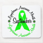 El mes de la conciencia del linfoma florece 3 tapete de ratón