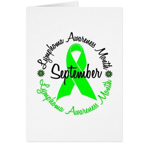 El mes de la conciencia del linfoma florece 3 felicitacion