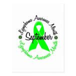 El mes de la conciencia del linfoma florece 3 postal