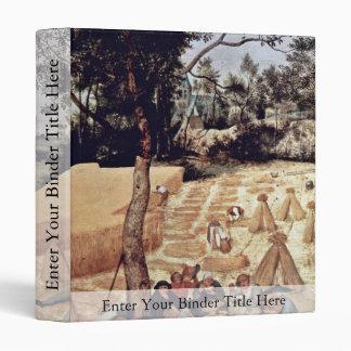 El mes de la cosecha de grano (agosto), por Bruege