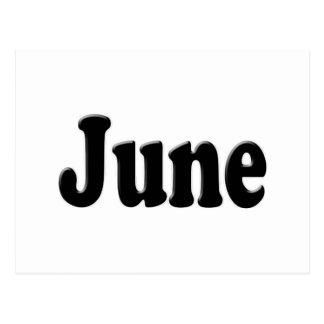 El mes del texto de junio tarjetas postales