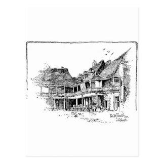 El mesón viejo del tabardo tarjeta postal