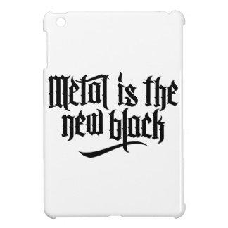 El metal es el nuevo negro No 1 el negro iPad Mini Cobertura