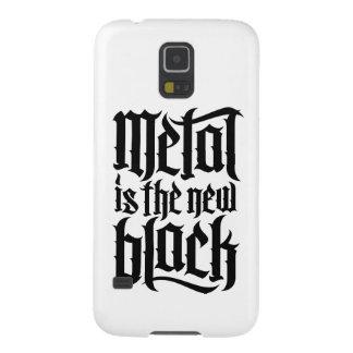 El metal es el nuevo negro No.2 (el negro) Fundas De Galaxy S5