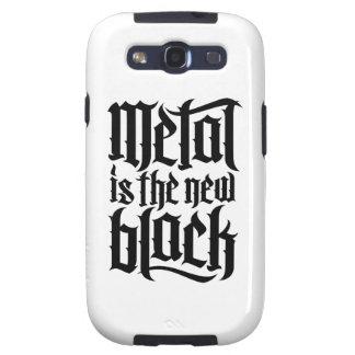 El metal es el nuevo negro No 2 el negro Samsung Galaxy S3 Cárcasa