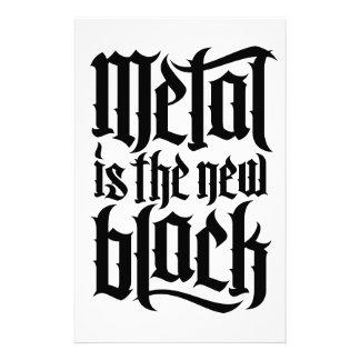 El metal es el nuevo negro No.2 (el negro) Papeleria De Diseño