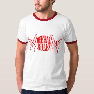 El metal gobierna la camiseta