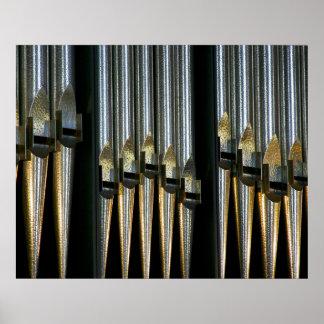 El metal instala tubos el poster