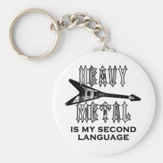 El metal pesado es mi segunda lengua llavero personalizado