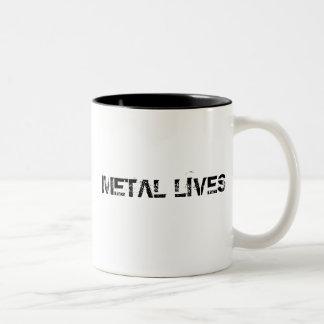 El metal vive taza de café