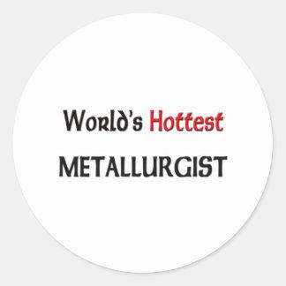 El metalúrgico más caliente de los mundos pegatina redonda