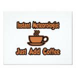 El meteorólogo inmediato… apenas añade el café invitaciones personales