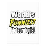 El meteorólogo más divertido del mundo tarjetas postales