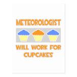 El meteorólogo… trabajará para las magdalenas tarjeta postal
