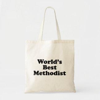 El Methodist del mundo del mundo Bolsas Lienzo
