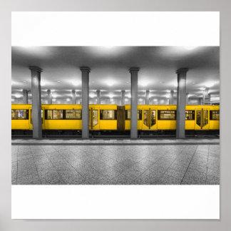 El metro póster