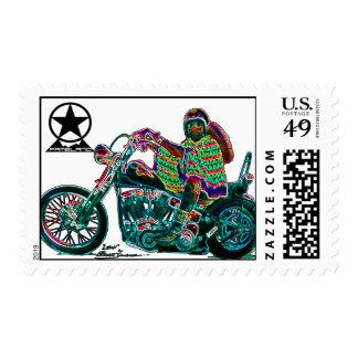 El Mexicano con Chopper Postage Stamps