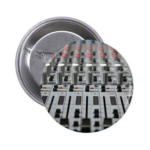 El mezclador rema el botón de la foto pin redondo de 2 pulgadas