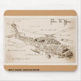El MH-60 Seahawk Mousepad de da Vinci