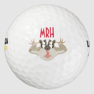 El mi del Badger_It que acosa ball_Personalized Pack De Pelotas De Golf