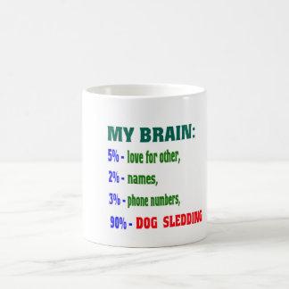 El mi Sledding. de los perros del cerebro el 90% Taza Básica Blanca