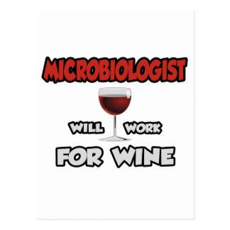 El microbiólogo… trabajará para el vino postal