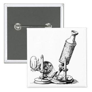 El microscopio de Robert Hooke Pin Cuadrada 5 Cm