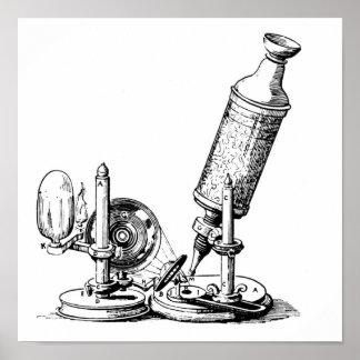 El microscopio de Robert Hooke Póster